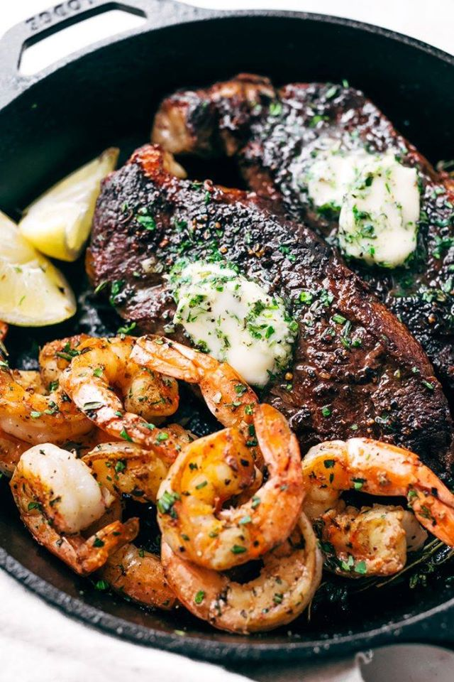 Sirloin, 1/2 lb of steamed or fried shrimp and 1 side for $21.95